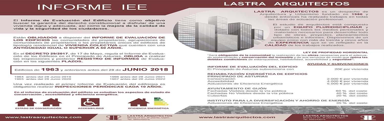 ITE ASTURIAS IEE ASTURIAS ITV EDIFICIOS EN ASTURIAS INFORME DE EVALUACION DEL EDIFICIO EN ASTURIAS Lastra Arquitectos Gijon Arquitectos Asturias
