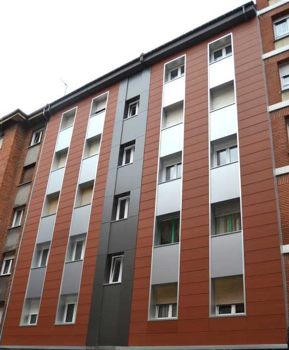 REHABILITACION FACHADAS GIJON BARRIO LA ARENA Lastra Arquitectos Gijon Asturias