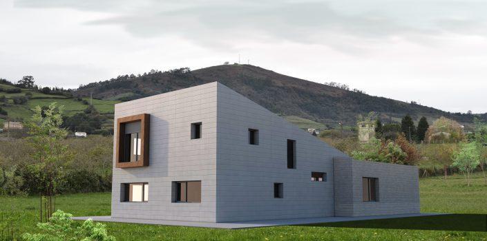 Lastra Arquitectos Gijon Asturias VIVIENDA CHALET PROYECTO ASTURIAS