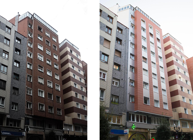 Rehabilitacion fachadas Gijón