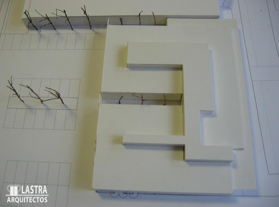 CENTRO SALUD CONTRUECES MAQUETA Lastra Arquitectos Gijon Asturias